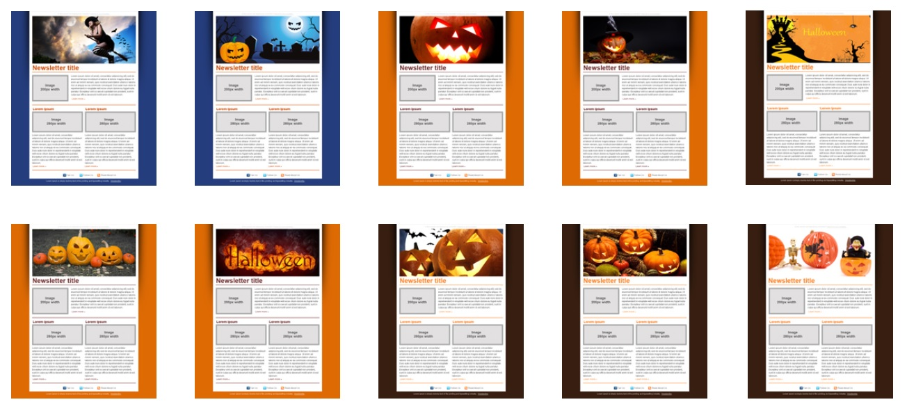 Templates gratuits Mailpro Halloween