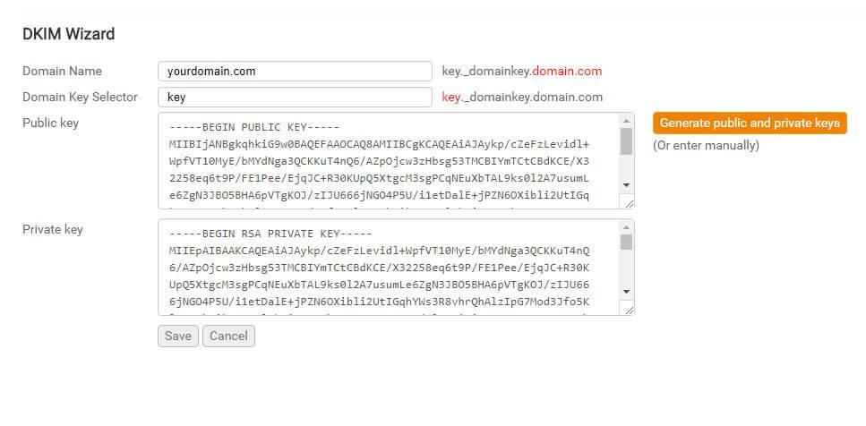 Configurer DKIM